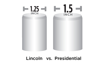 """Presidential Feature Larger 1.5"""" Locking Bolts"""