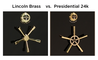 Presidential Feature 24-Karat Gold Upgraded Hardware