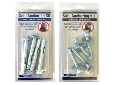 Premium 20 Feature Bolt down kit included (installation required)